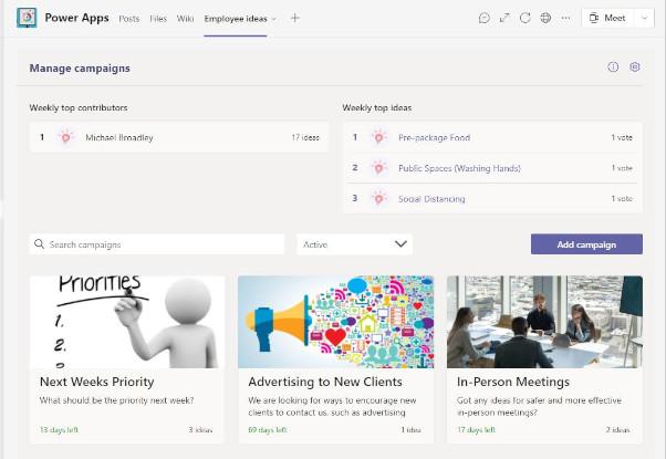 Employee Ideas Power App