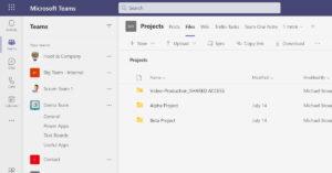 Shared access folders