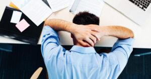 Man having stress at work